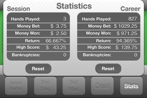 Screenshot Vegas Video Poker